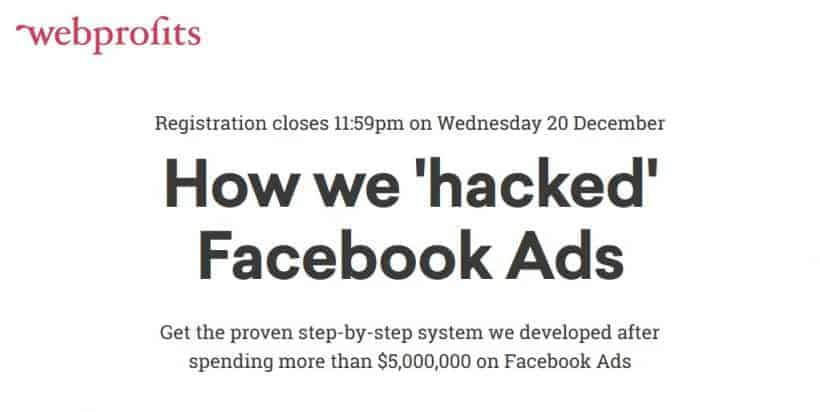 Facebook Advertising Hacks Advanced by Webprofits