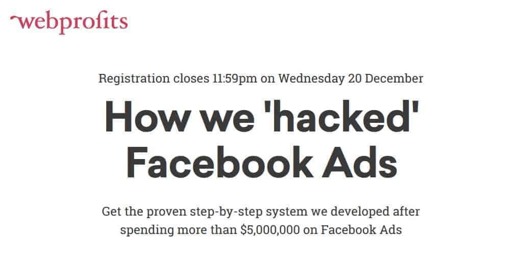 Facebook Advertising Hacks Advanced by Webprofits