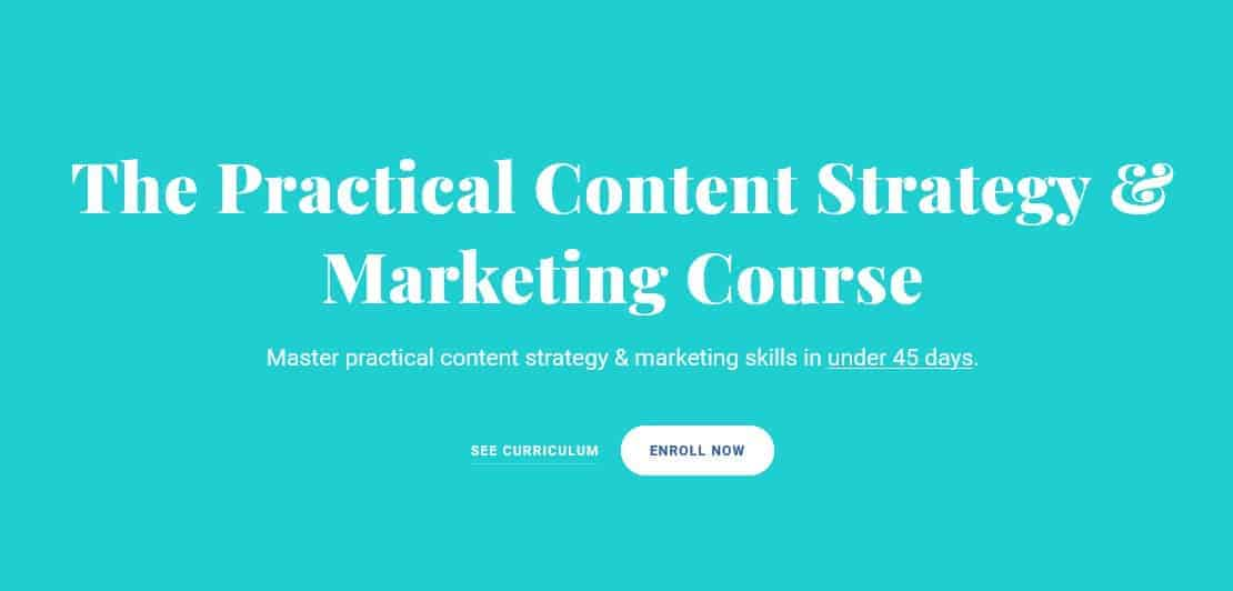 The Practical Content Strategy & Marketing Course by Julia McCoy