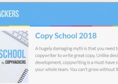 Copy School 2018 by CopyHackers