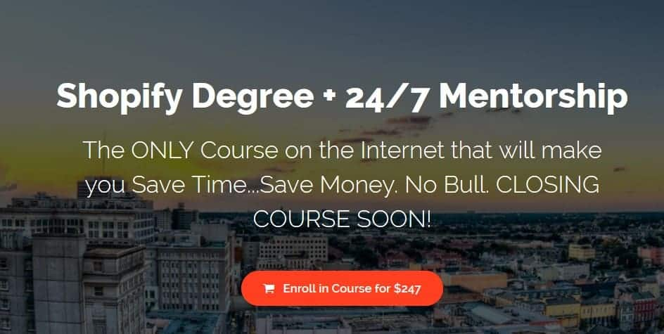 Shopify Degree + 24-7 Mentorship by Malik Mufasa