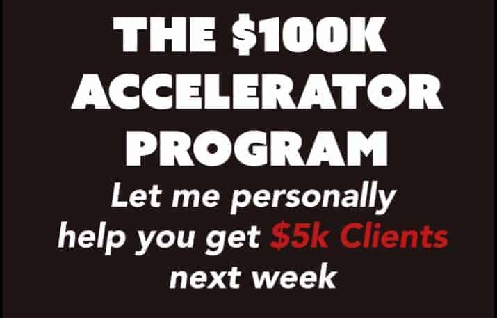 The 100k accelerator program by Mike Kabbani