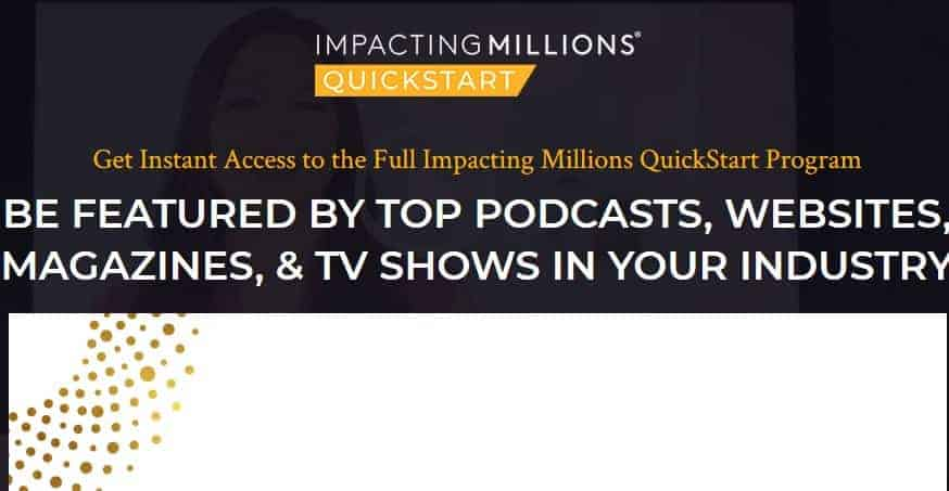 The Impacting Millions QuickStart 2018 by Selena Soo