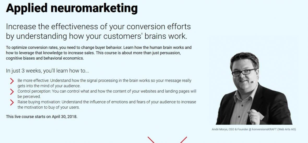 Conversionxl Applied neuromarketing by Andé Morys