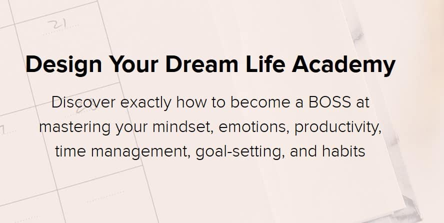 Design Your Dream Life Academy by Natalie Bacon
