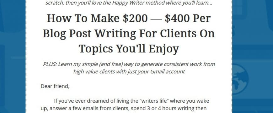 The Happy Writer Course by Mike Shreeve