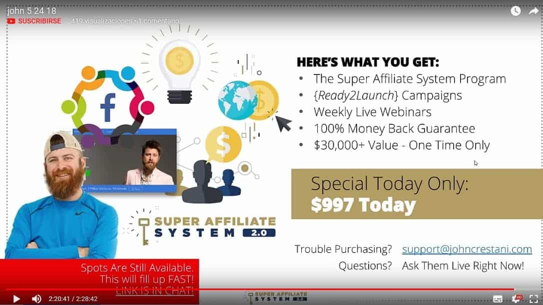 The Super Affiliate System 2.0 by John Crestani