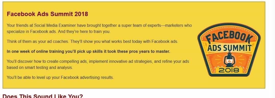 Facebook Ads Summit 2018 by socialmediaexaminer