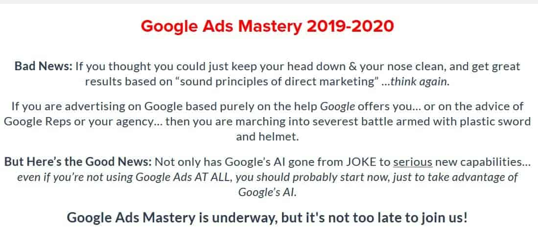 Google Ads Mastery Mike Rhodes Perry Marshall