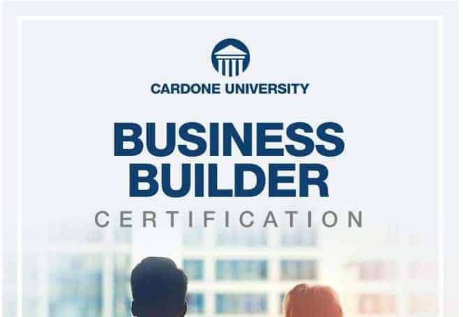 Business Builder Certification by Grant Cardone
