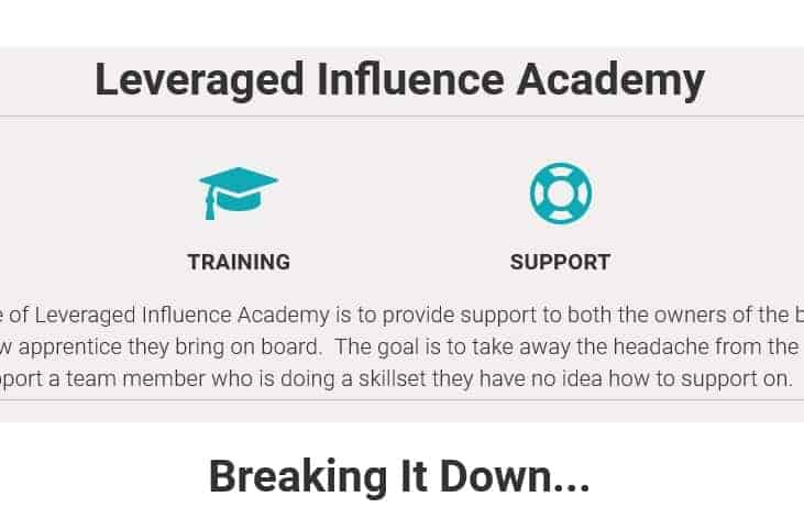 Leveraged Influence Academy by Andrew O'brien
