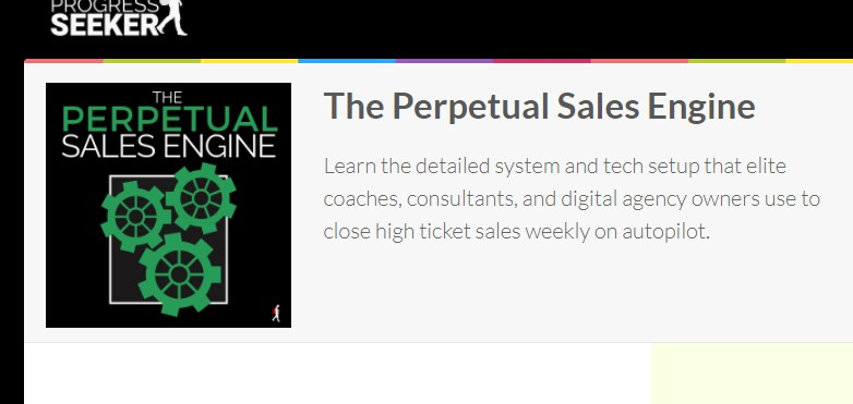 The Perpetual Sales Engine Advanced by Ben Adkins