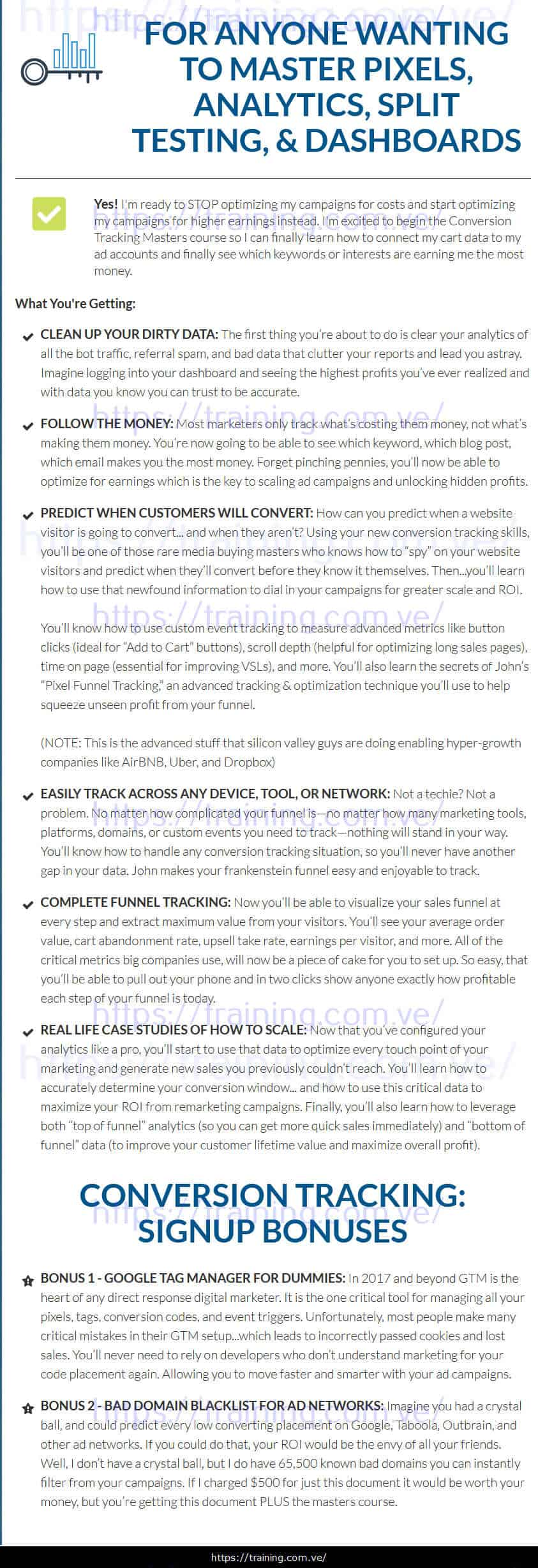 Conversion Tracking Masters 2.0 by Adskill sales page