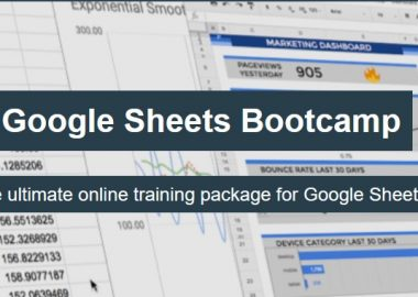 Google Sheets Bootcamp by Ben Collins