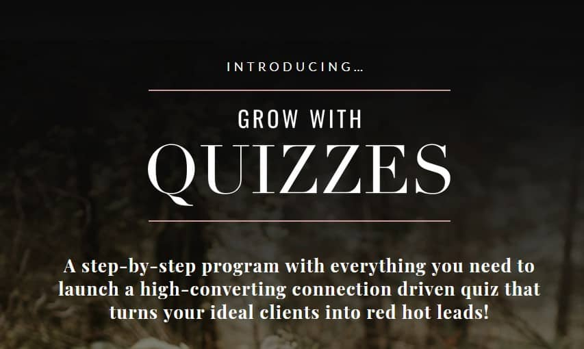 Grow with Quizzes by Chanti Zak