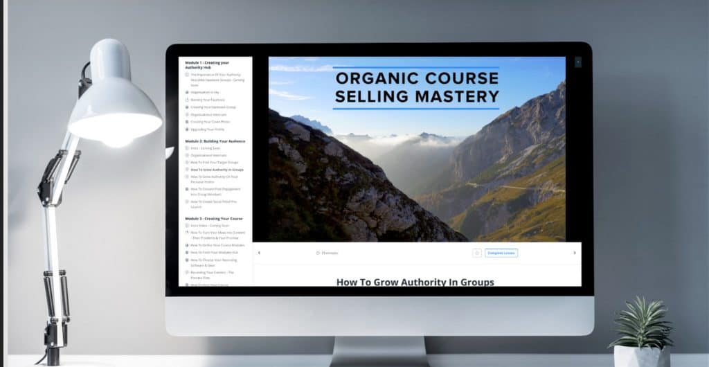 Organic Course Selling Mastery by Carl Parnell