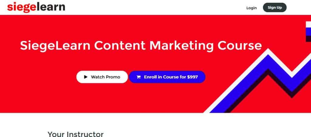 SiegeLearn Content Marketing Course