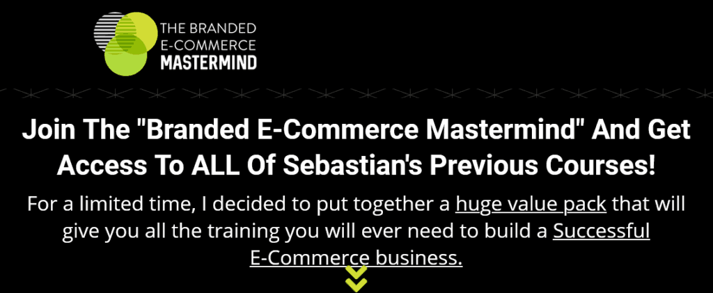 Branded E-Commerce Mastermind by Sebastian Gomez