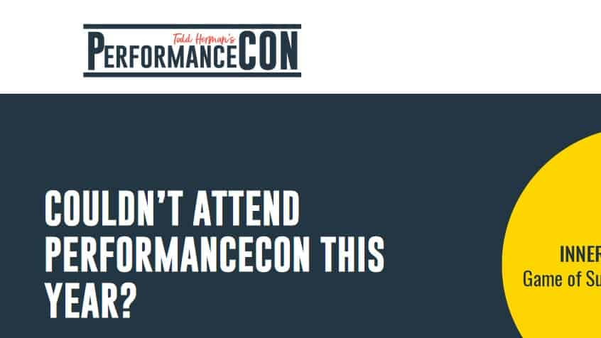 PerformanceCON 2019 Event Recordings by Todd Herman