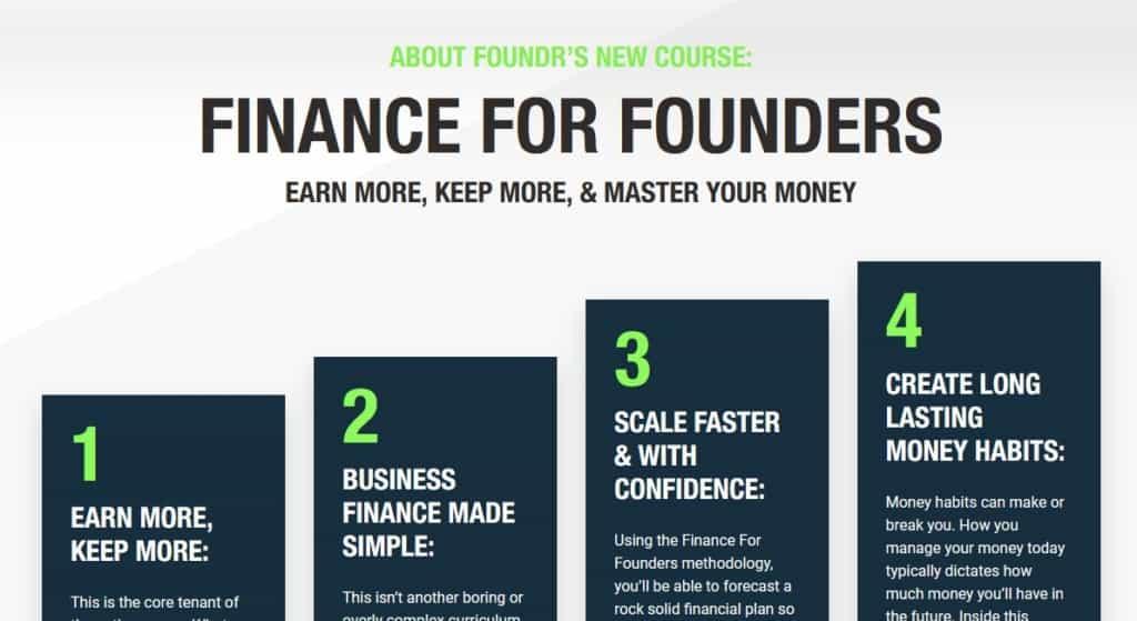 Finance For Founders by Foundr Alexa Von Tobel