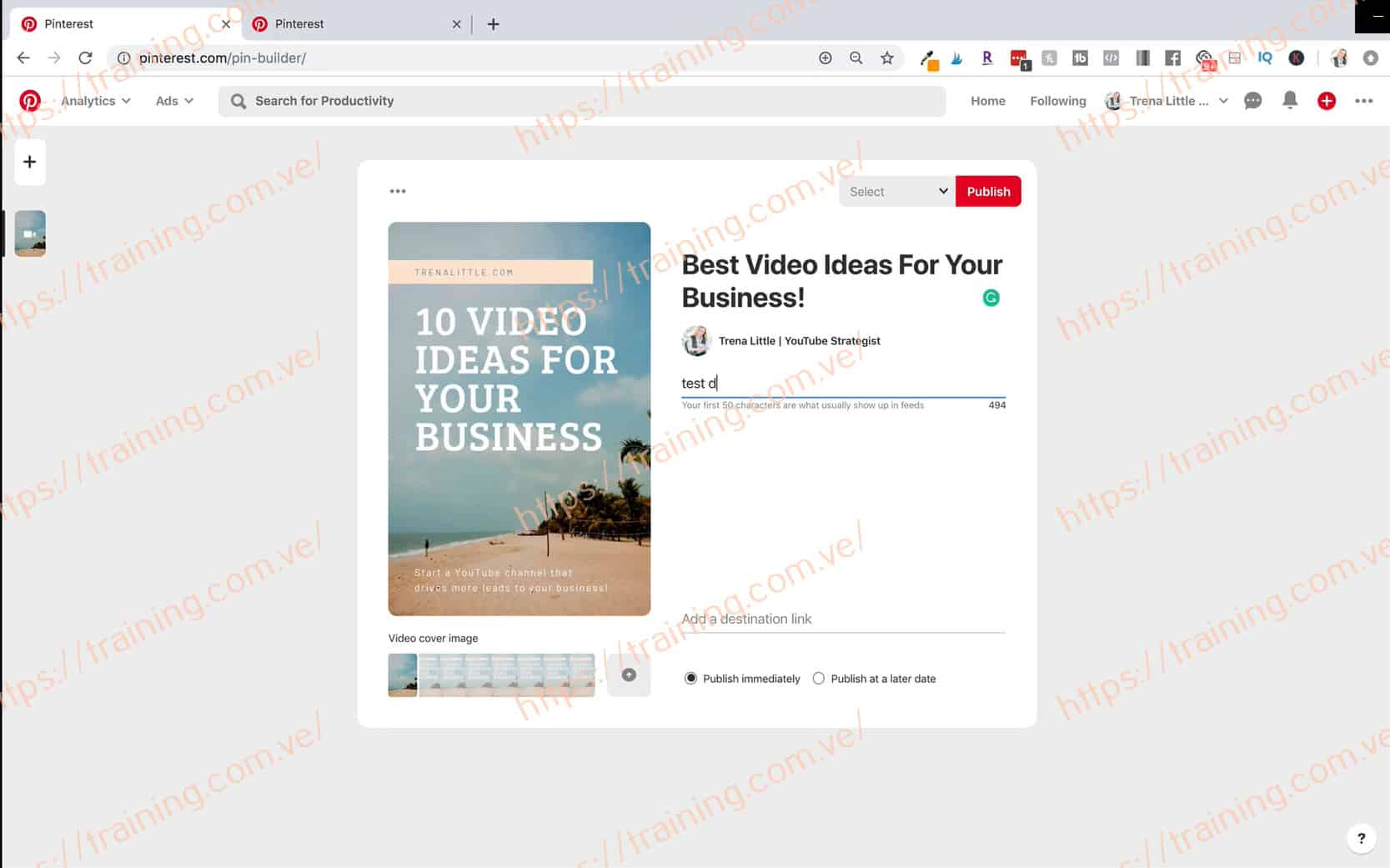 Video Strategy Academy by Trena Little Offer